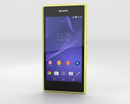 3D model of Sony Xperia E3 Yellow
