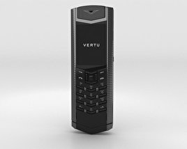 3D model of Vertu Signature Clous de Paris Pure Black