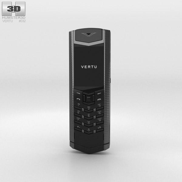Vertu Signature Clous de Paris Pure Black 3D模型