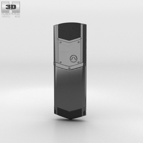 Vertu Signature Clous de Paris Pure Black 3d model