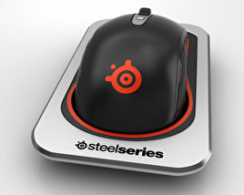 3D model of SteelSeries Sensei Wireless Laser Mouse