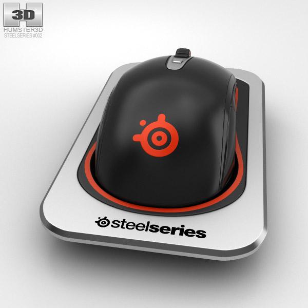 3D model of SteelSeries Sensei Wireless Laser Mouse