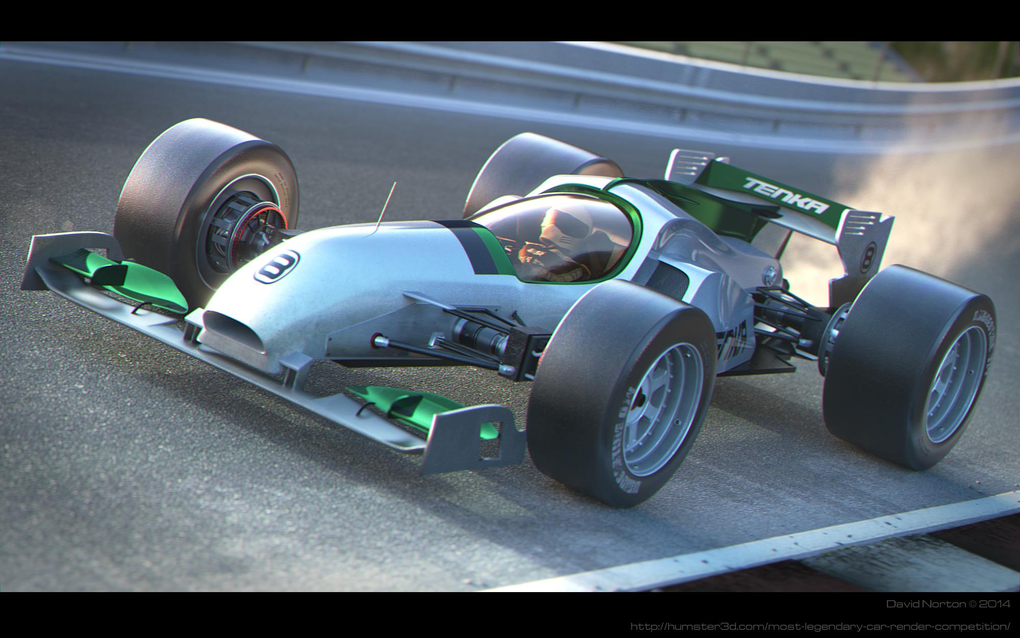 Tenka Firestorm - Open-wheeler concept 3d art