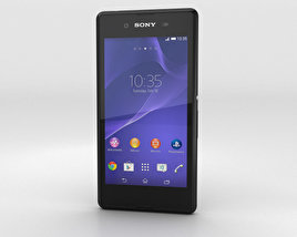 3D model of Sony Xperia E3 Black