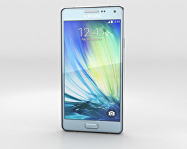 3D model of Samsung Galaxy A3 Light Blue