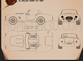 AC Shelby Cobra 427 1965 Blueprint