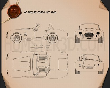 AC Shelby Cobra 427 1965 Blueprint