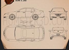 Acura TL 2012 Blueprint