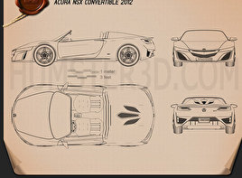 Acura NSX convertible 2012 Blueprint