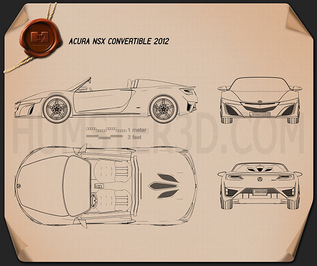 Acura NSX convertible 2012 Blueprint