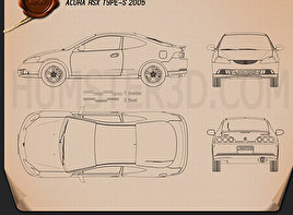 Acura RSX Type-S 2005 Blueprint