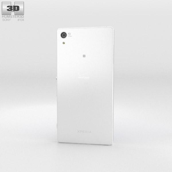 Sony Xperia Z3v White 3d model