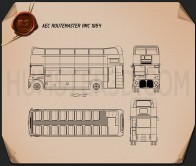 AEC Routemaster RMC 1954 Blueprint