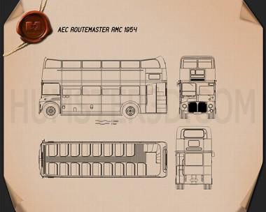 AEC Routemaster RMC 1954 Blueprint