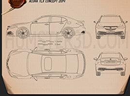 Acura TLX 2015 Blueprint