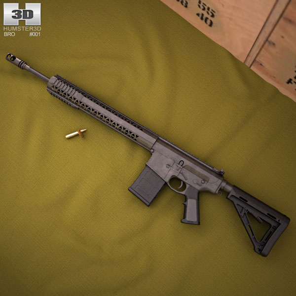 BRO PG15 .308 Magpul 3D model