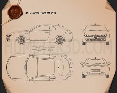 Alfa Romeo Brera 2011 Blueprint