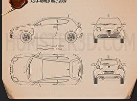Alfa Romeo MiTo 2009 Blueprint