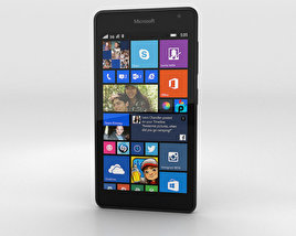 3D model of Microsoft Lumia 535 Black