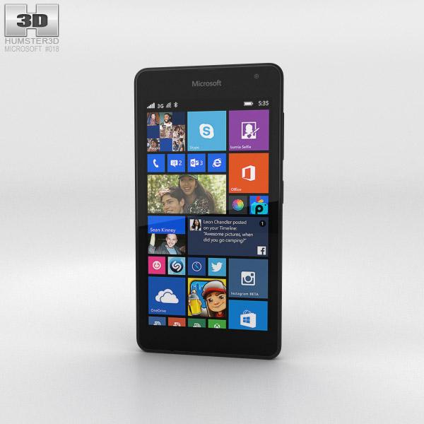 Microsoft Lumia 535 Black 3d model