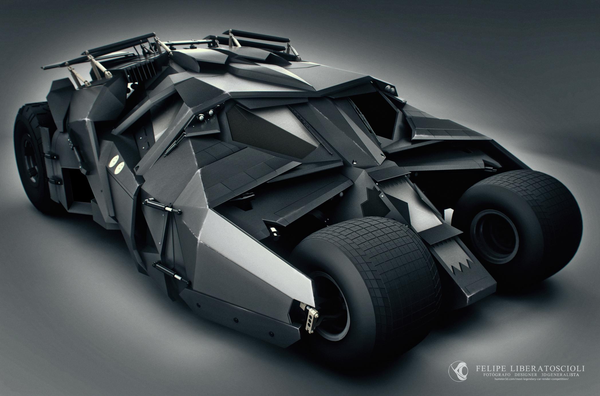 The Tumbler Batmobile 3d art