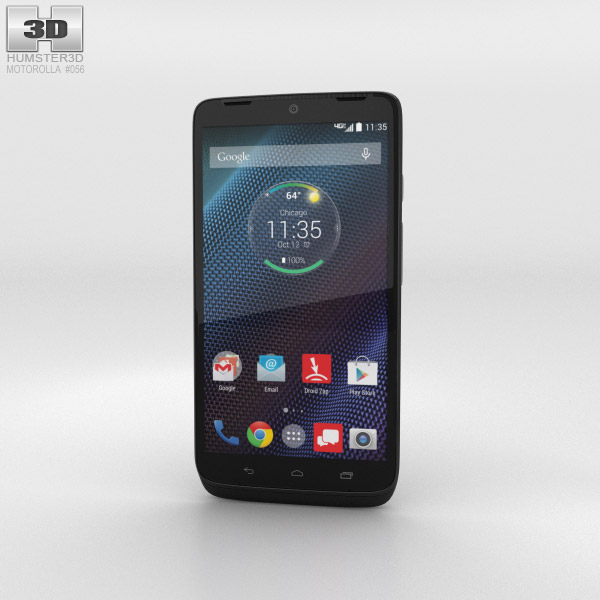 Motorola Moto Maxx Black Ballistic Nylon 3d model