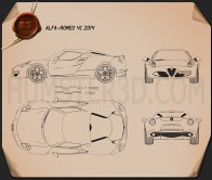 Alfa Romeo 4C 2014 Blueprint