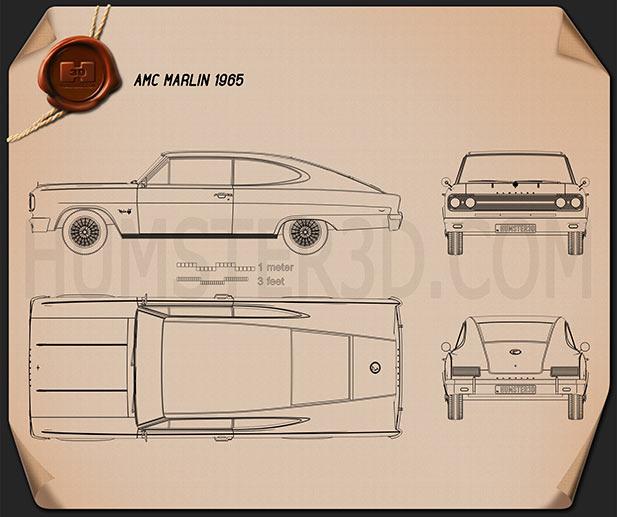AMC Marlin 1965 Blueprint