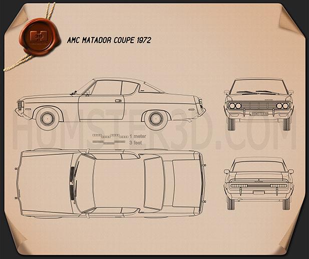 AMC Matador coupe 1972 Blueprint