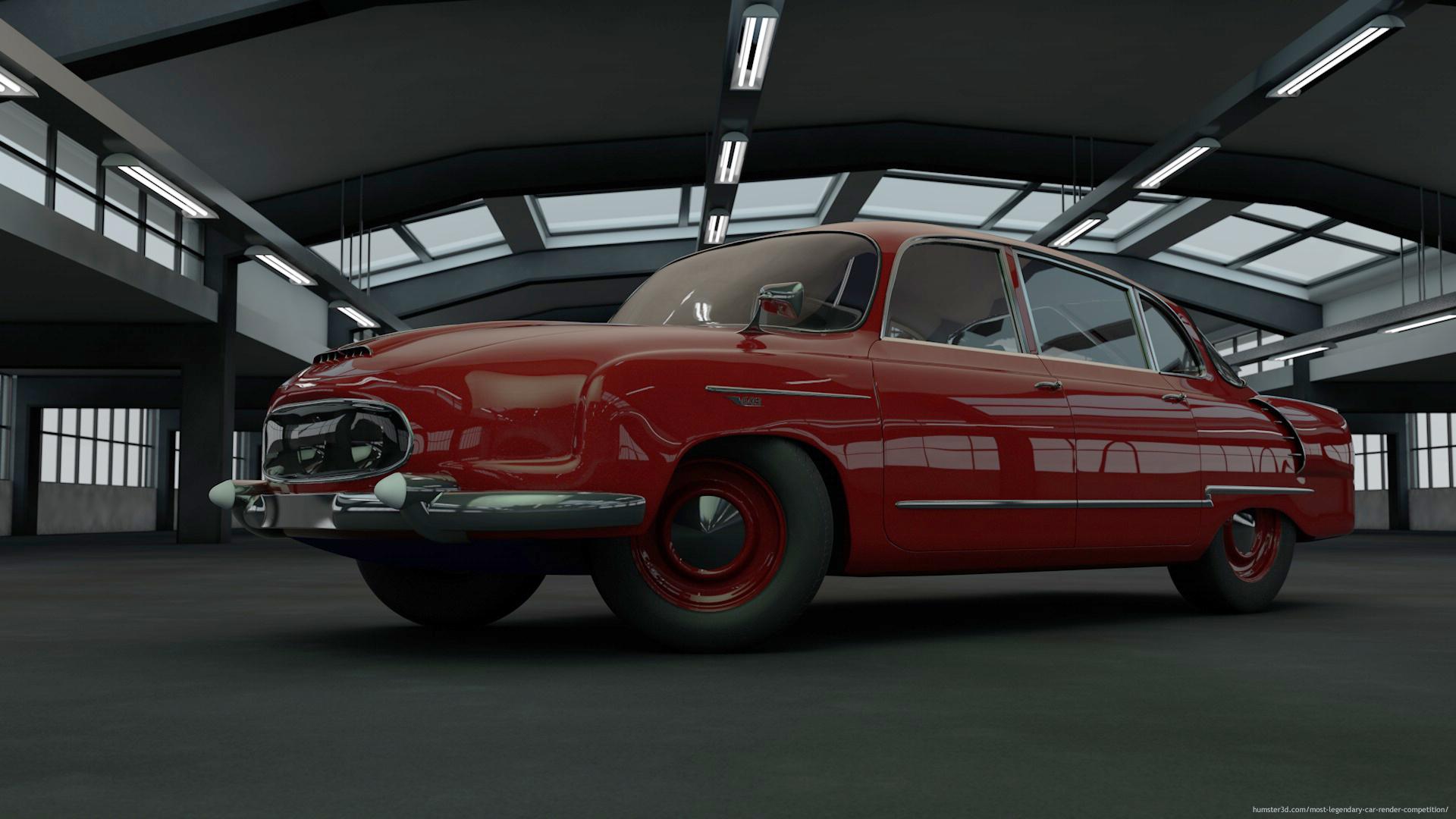 Tatra 603 1952 3d art