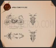 Aprilia Tuono V4 R 2012 Blueprint