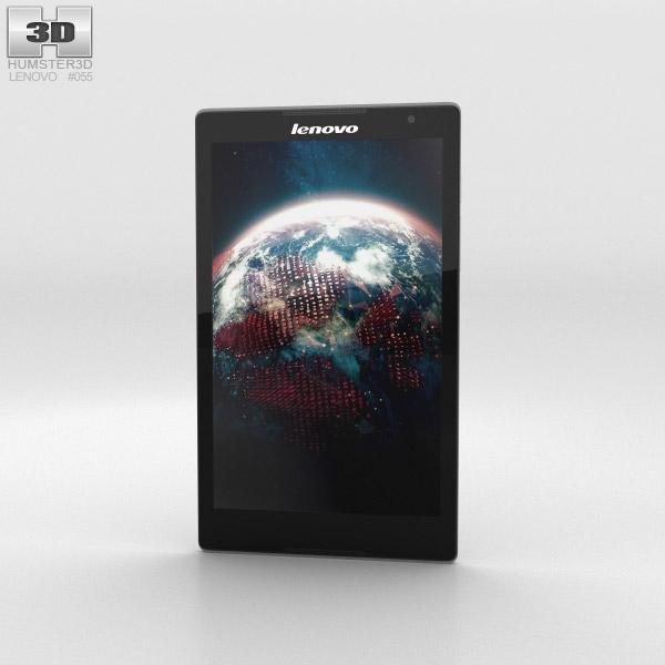 3D model of Lenovo Tab S8 Ebony