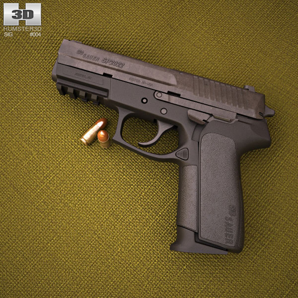 3D model of SIG Sauer SP 2022