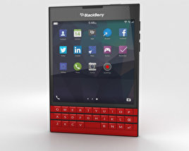 3D model of BlackBerry Passport Red