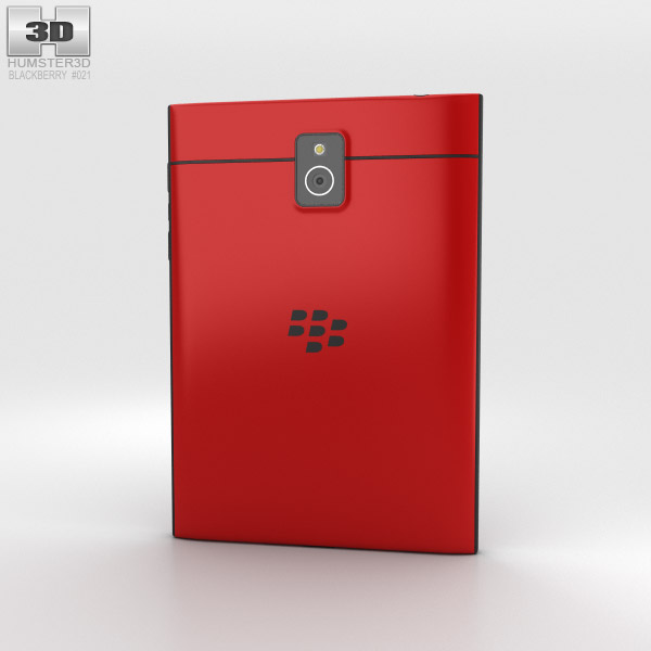 BlackBerry Passport Red 3d model
