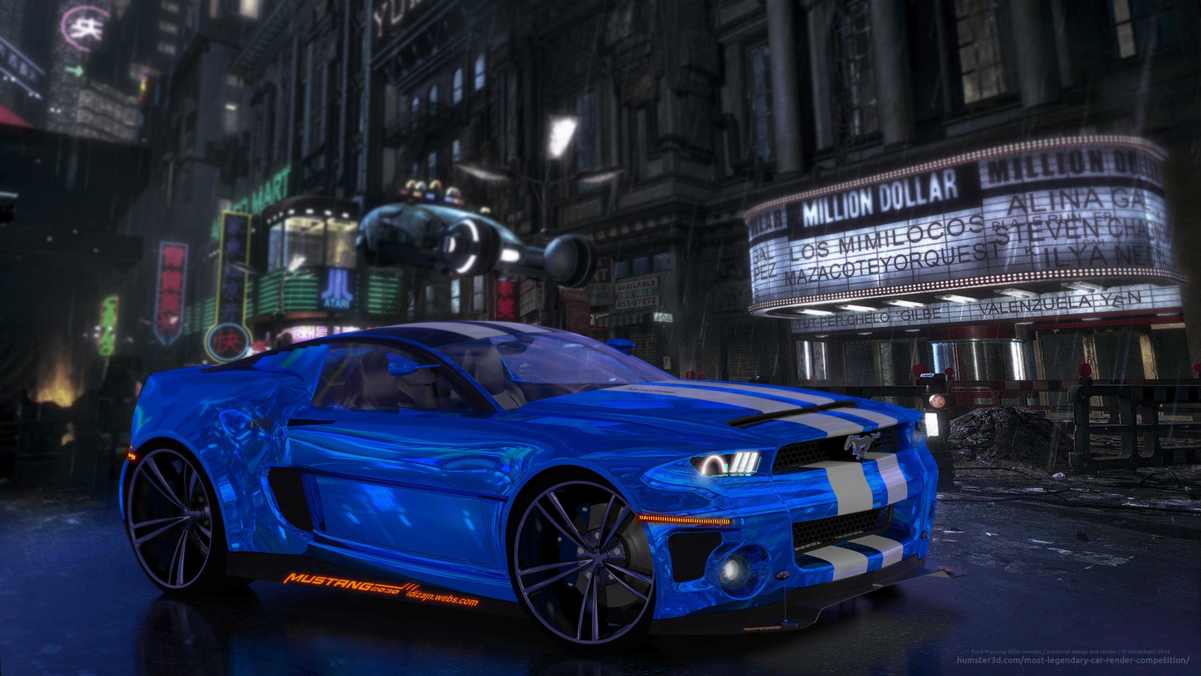 Ford Mustang 2030 Concept 3d art