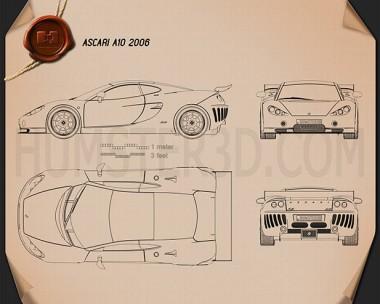 Ascari A10 2006 Blueprint