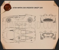 Aston Martin CC100 Speedster 2013 Blueprint