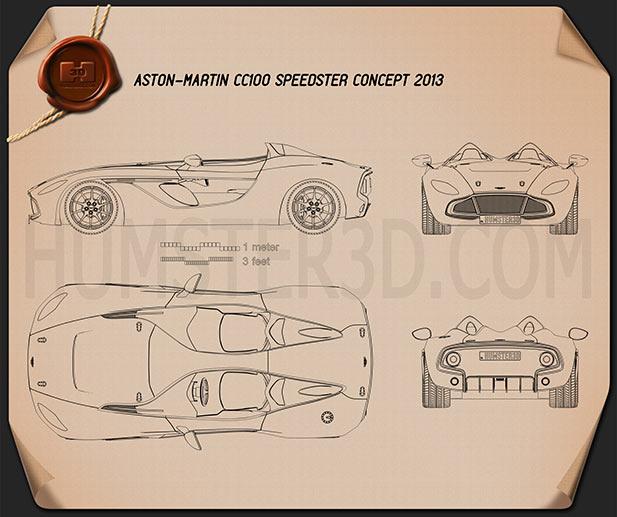 Aston Martin CC100 Speedster 2013 Blueprint