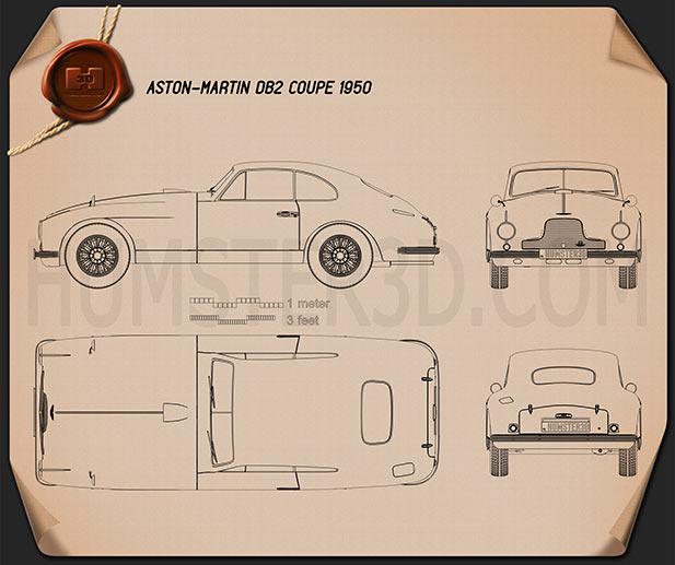 Aston Martin DB2 1950 Blueprint