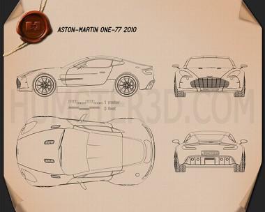 Aston Martin One-77 2010 Blueprint