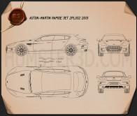 Aston Martin Rapide Bertone Jet 2+2 2013 Blueprint