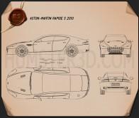 Aston Martin Rapide S 2013 Blueprint