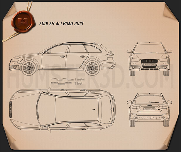 Audi A4 Allroad 2013 Blueprint