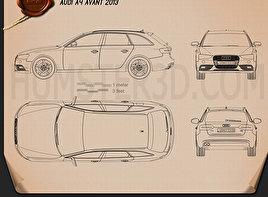 Audi A4 Avant 2013 Blueprint
