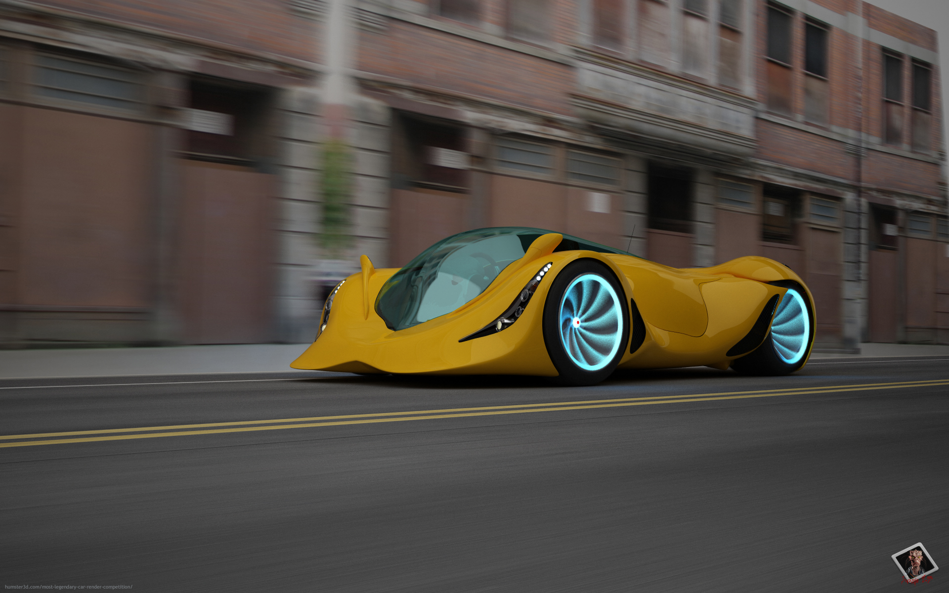 Dolphin car 3d art
