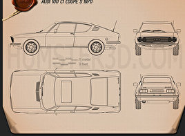 Audi 100 Coupe S 1970 Blueprint