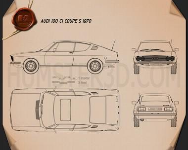 Audi 100 Coupe S 1970 Blueprint