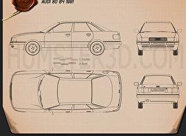 Audi 80 (B4) 1991 Blueprint