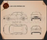 Audi A1 sportback 2012  Blueprint